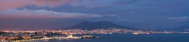 Bay of Naples and Versuvius by Night_