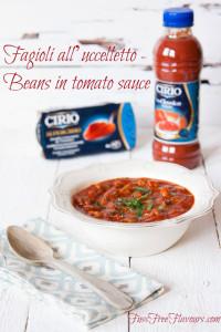 Fagioli all'uccelletto - beans in tomato sauce