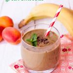 Chocolate and Hazelnut spread green smoothie