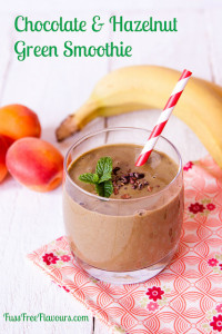 Chocolate and Hazelnut spread green smoothie