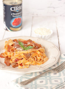 Simple beef ragu and pasta