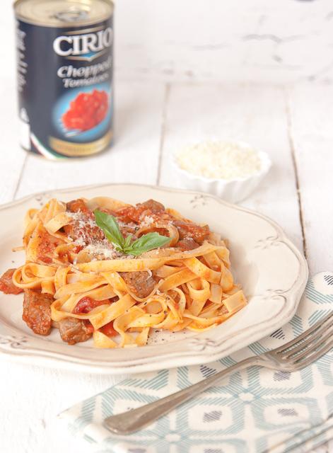 Simple beef ragu and pasta
