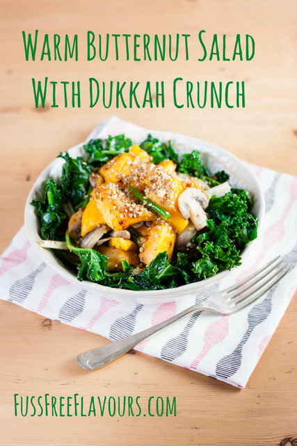 Warm Butternut salad with Dukkah Crunch
