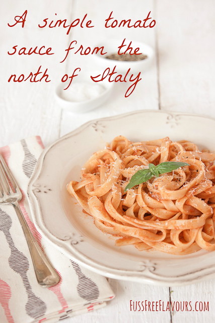 A simple tomato sauce from the North of Italy