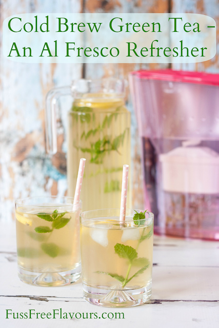 Cold brewed green tea is a refreshing delicious summer thirst quencher | Fuss Free Flavours