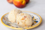 Baked Nectarine and Honey Ice Cream_