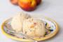 Baked Nectarine and Honey Ice Cream_