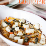 Roasted Rainbow Carrots with Halloumi & Carrot Top Pesto