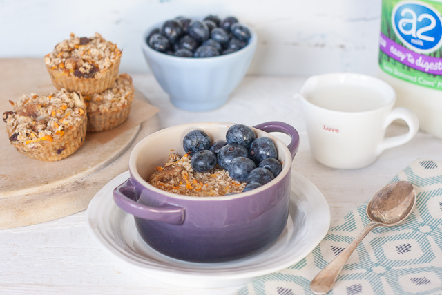 a2 milk baked carrot cake oatmeal