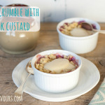 Apple crumble with a2 milk custard