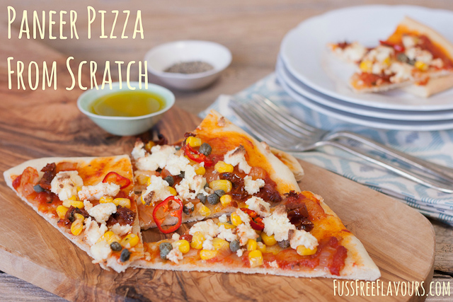 Paneer Pizza from Scratch_