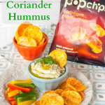 helathy red lentil hummus flavoured with lime and coriander