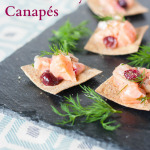 Salmon and cranberry ceviche canapes - simple and delicious party food