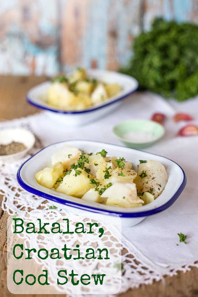 Bakalar a Croatian Cod Stew - Traditionally served on Christmas eve, this version of Bakalar uses home cured salted cod.
