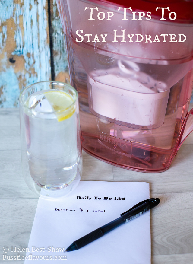 Top tips to stay hydrated and to help you drink more water