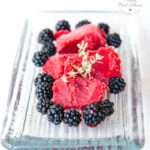 Easy Blackberry Sorbet with Apple and a hint of Thyme