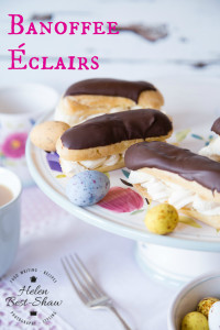 In a twist on a traditional eclair this banoffee version is far easier to make than you might think