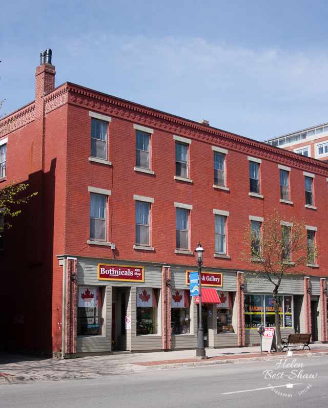Red brick buildings, Central Fredericton, New Brunswick Canada