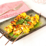 Chicken tikka kebabs captioned