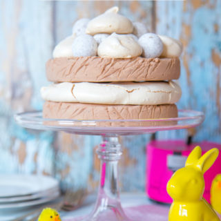 No Churn Chocolate Ice Cream Meringue Gateau