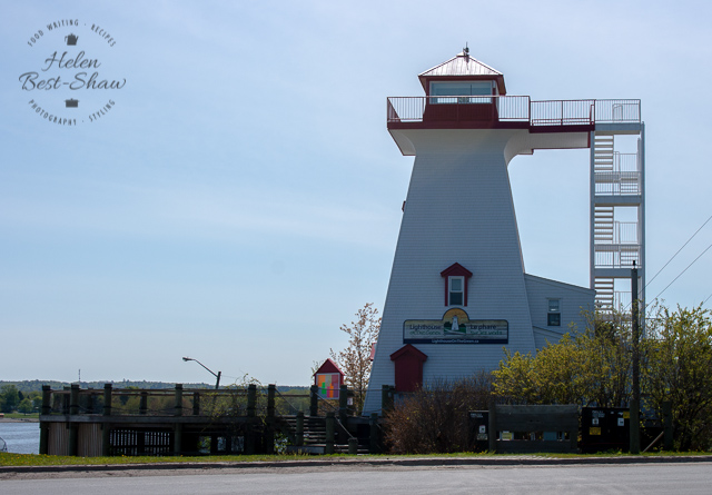 Wooden clad The Fredericton Lighthouse, New Brunswick Canada