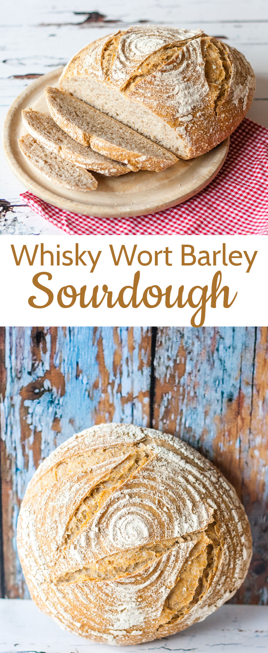 A barley sourdough loaf inspired from driving through the fields of Aberdeenshire and Moray after a visit to the Aberlour distillery