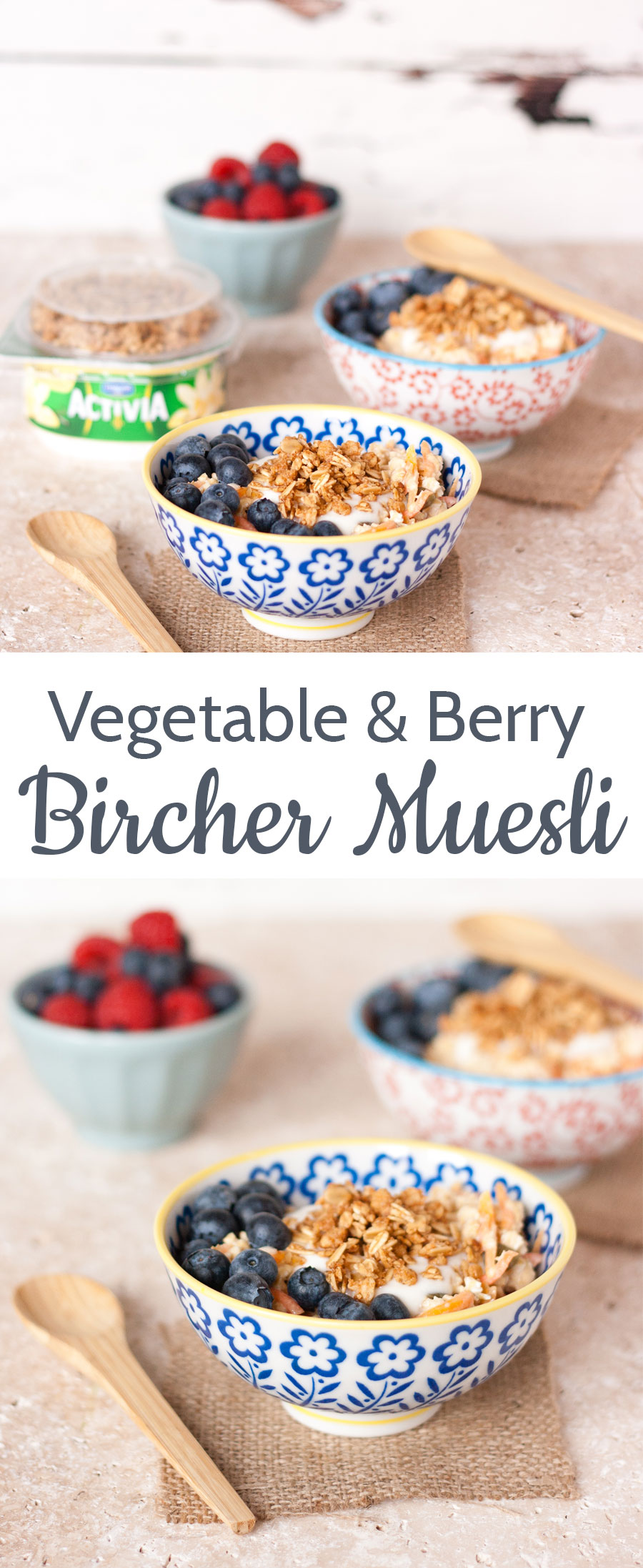 Swapping the grated apple in bircher muesli for carrots is an easy and delicious way to get more vegetables into your diet.