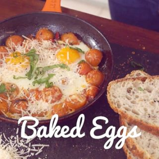 Baked Eggs with Cherry Tomatoes