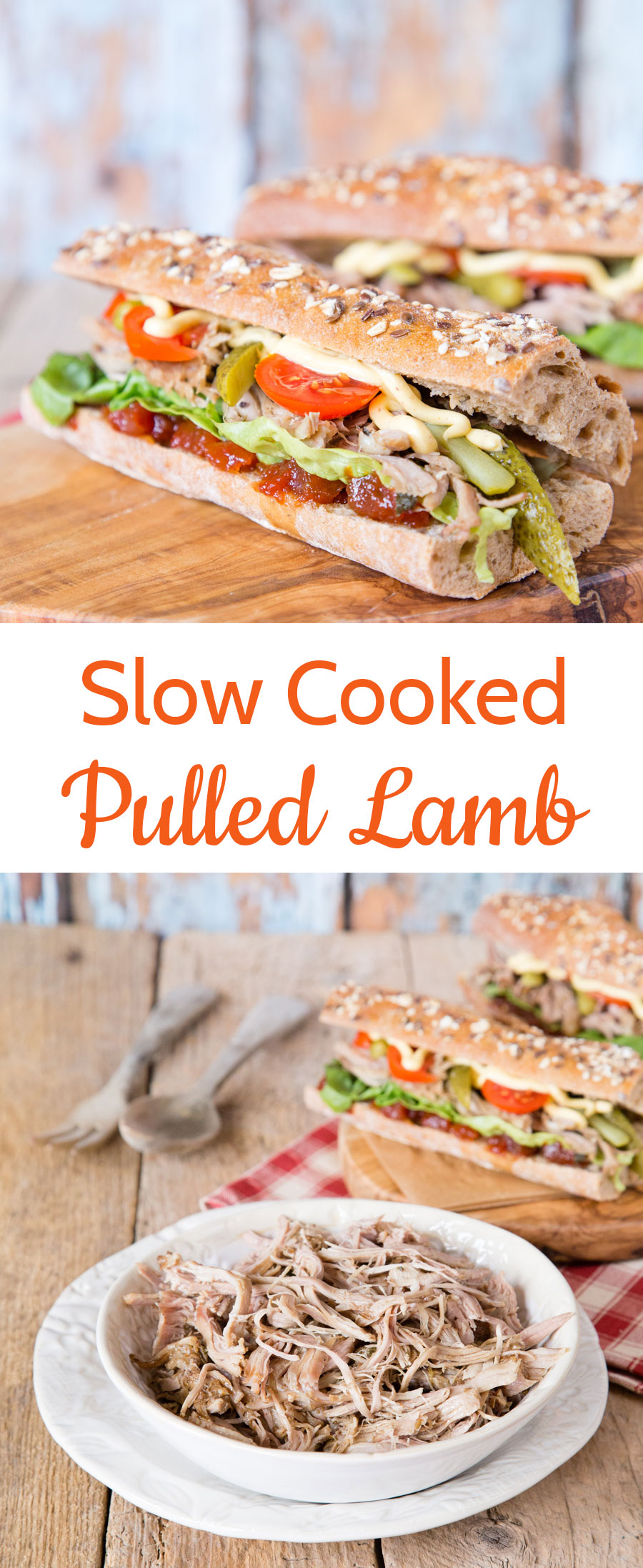 Slowly cooked tender pulled lamb is so easy to make, and ideal for feeding a crowd at your next party or BBQ.