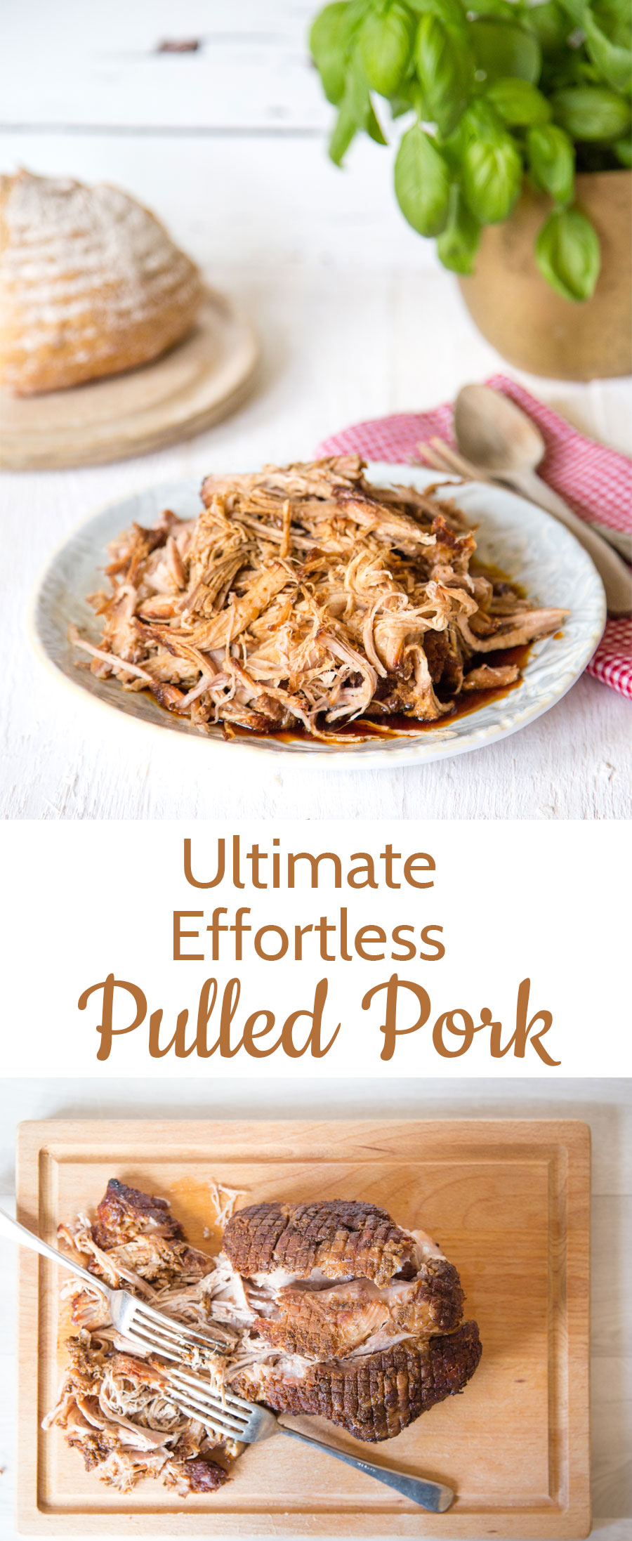 The Ultimate Pulled Pork Slow Cooker Crock Pot. A super simple effortless recipe.