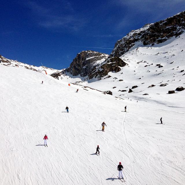 Spring skiing Tignes