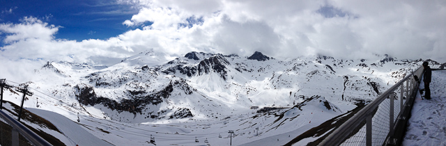 View from mountains above Tignes