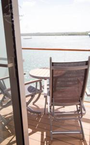 Sunny veranda on board the Celebrity Eclipse