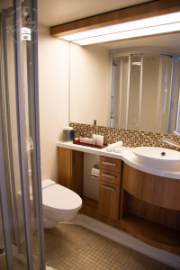 Spacious Bathroom on board the Celebrity Eclipse