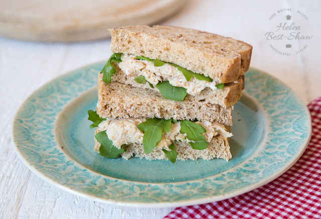 Smoked Mackerel and chickpea sandwich