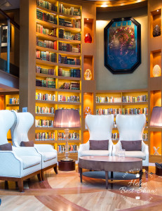 The Library on board Celebrity Eclipse