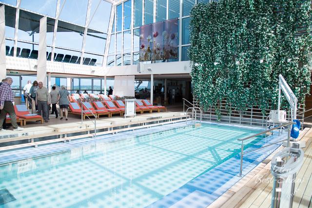 Indoor pool on board Celebrity Eclipse