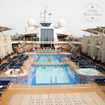 Outdoor pool on board Celebrity Eclipse
