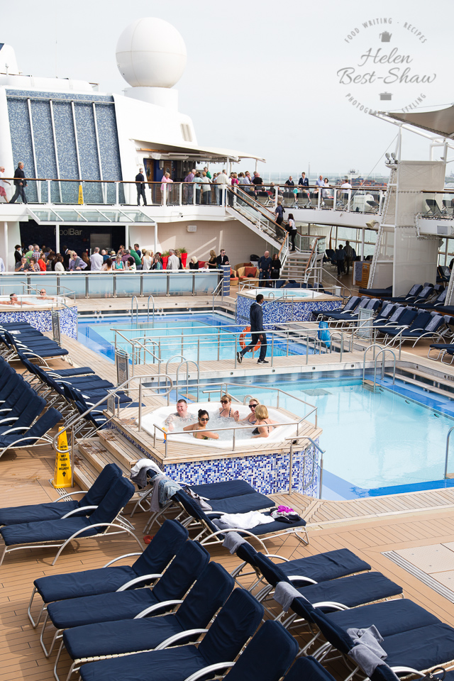Outdoor pool on board Celebrity Eclipse cruise ship