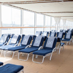 Poolside seating on board Celebrity Eclipse