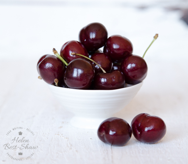 Beautiful cherries, often sadly neglected from our summer puddings.