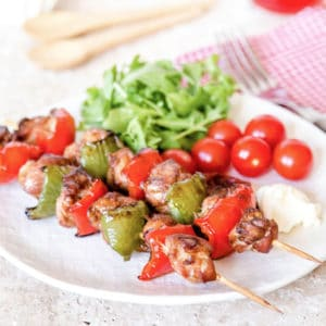 Freeze pre cut chicken in marinade for fuss free summer kebabs