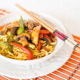 Recipe: Easy Mushroom Teriyaki with Noodles