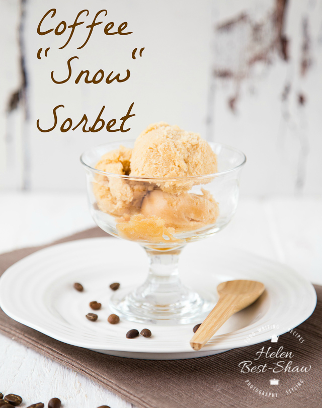 Recipe cold brew coffee snow sorbet fuss free flavours an easy recipe for a light and refreshing coffee caramel sorbet which has the texture ccuart Gallery