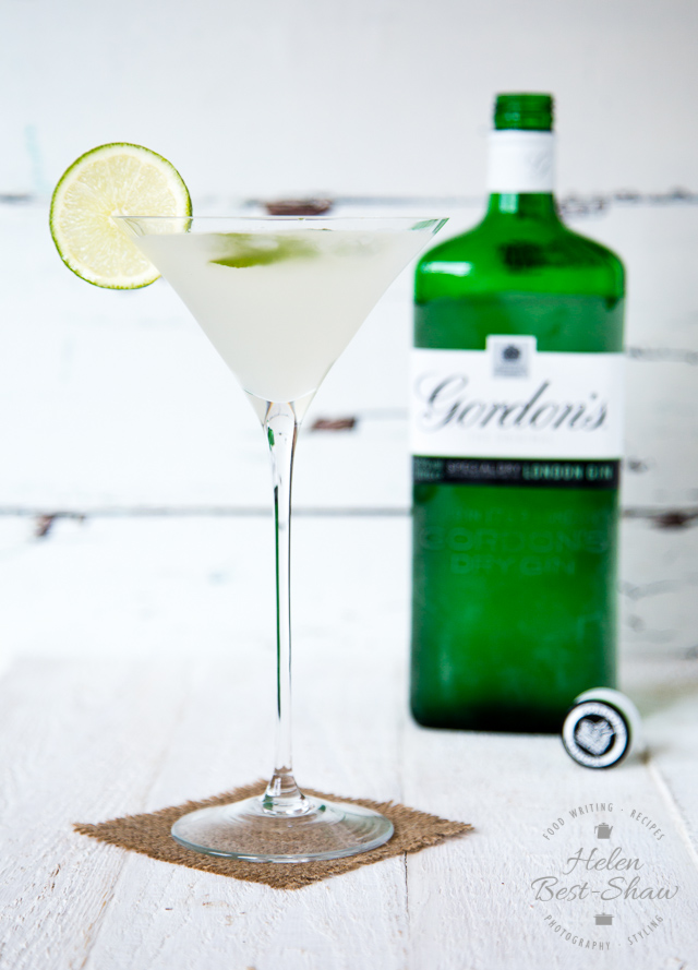A very English elderflower martini is given a tropical twist with coconut syrup and lime.