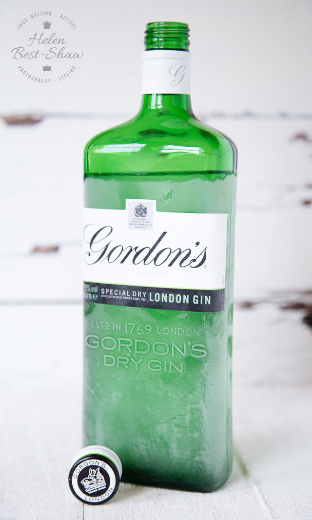 Frosted bottle of gordons gin