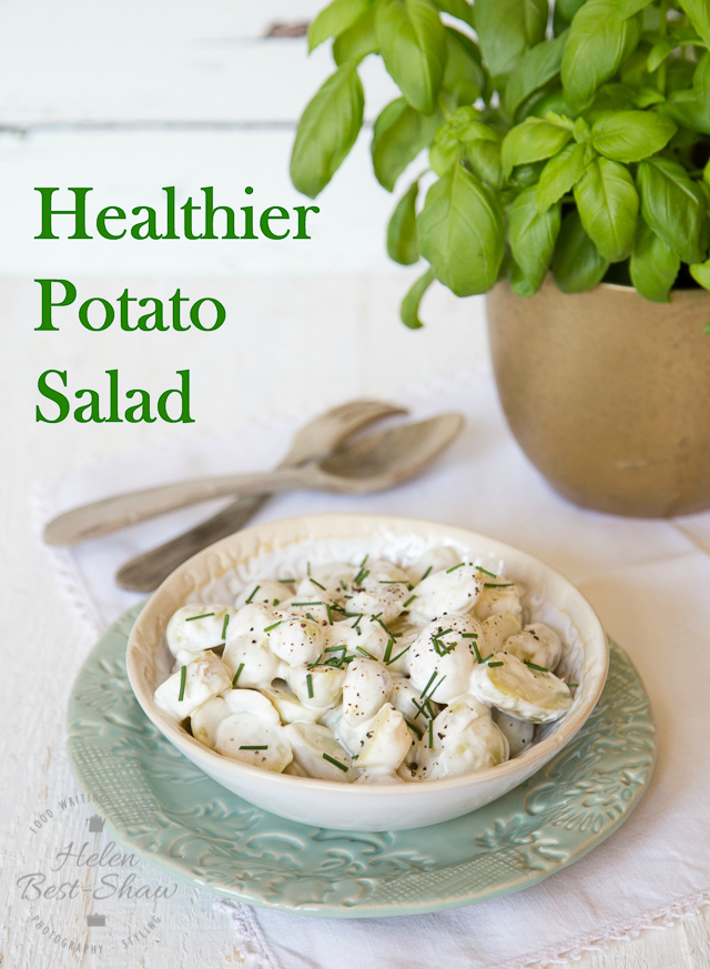 A simple substitution make this potato salad far more healthy without compromising on taste.