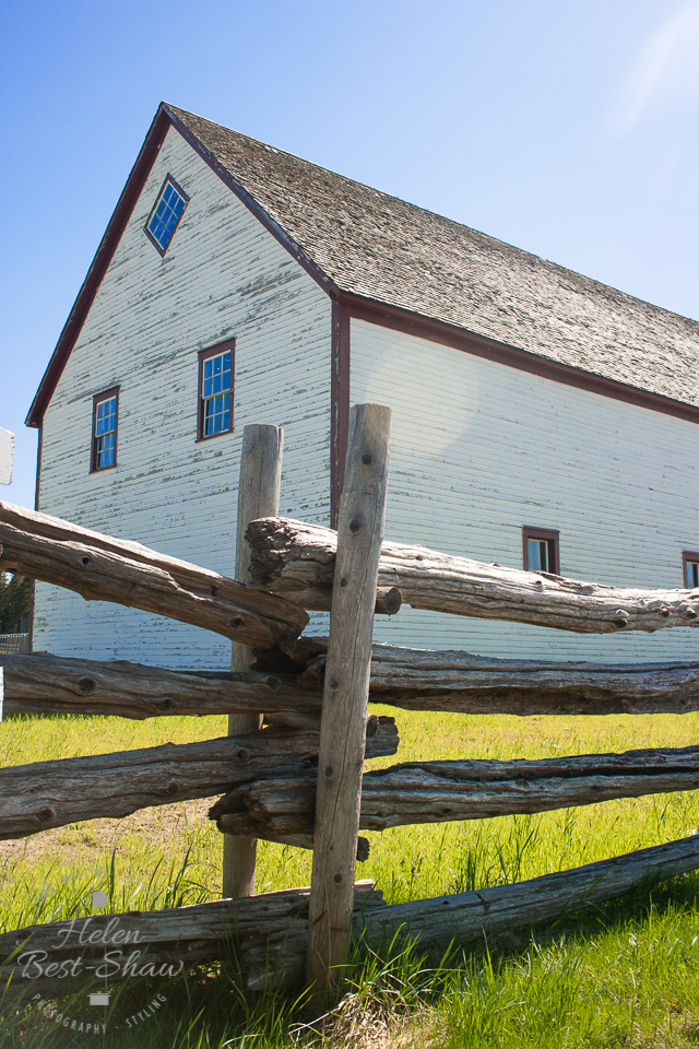 Timber clad barn in Doaktown New Brunswick