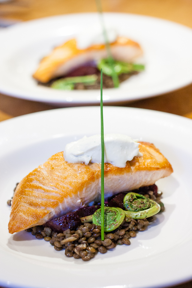 Fiddleheads and Salmon - A Traditional New Brunswick Meal