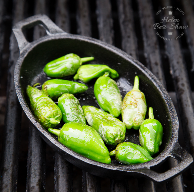 How to cook Padron peppers on the BBQ